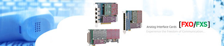 Analog VoIP Cards (FXO/FXS)