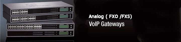 Analog VoIP Gateways (FXO/FXS)