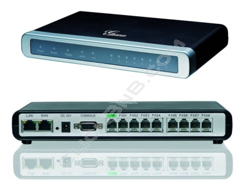 Grandstream - GXW4008 - 8FXS VoIP Analog Gateway