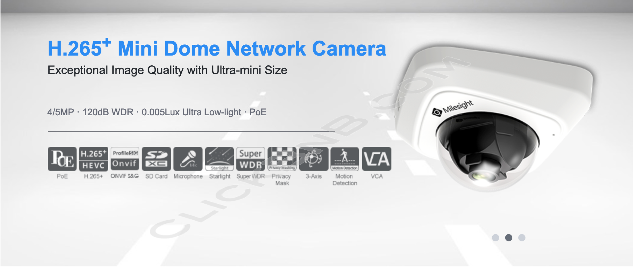 Milesight MS-C4481-PB - 4MP H.265+ Mini Dome Network IP Camera