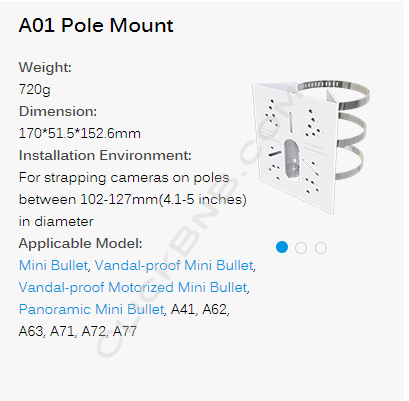 Milesight A01 Pole Mount with Stainless Steels Strap