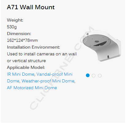 Milesight A71 - Wall Mount Bracket