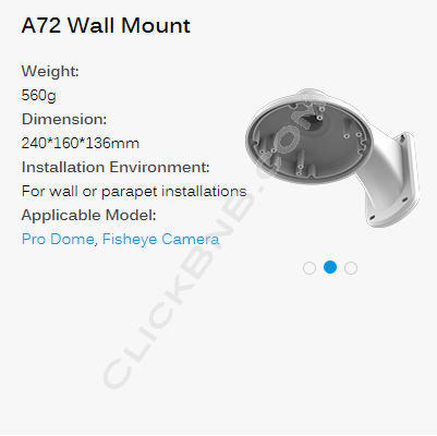 Milesight A72 - Wall Mount Bracket
