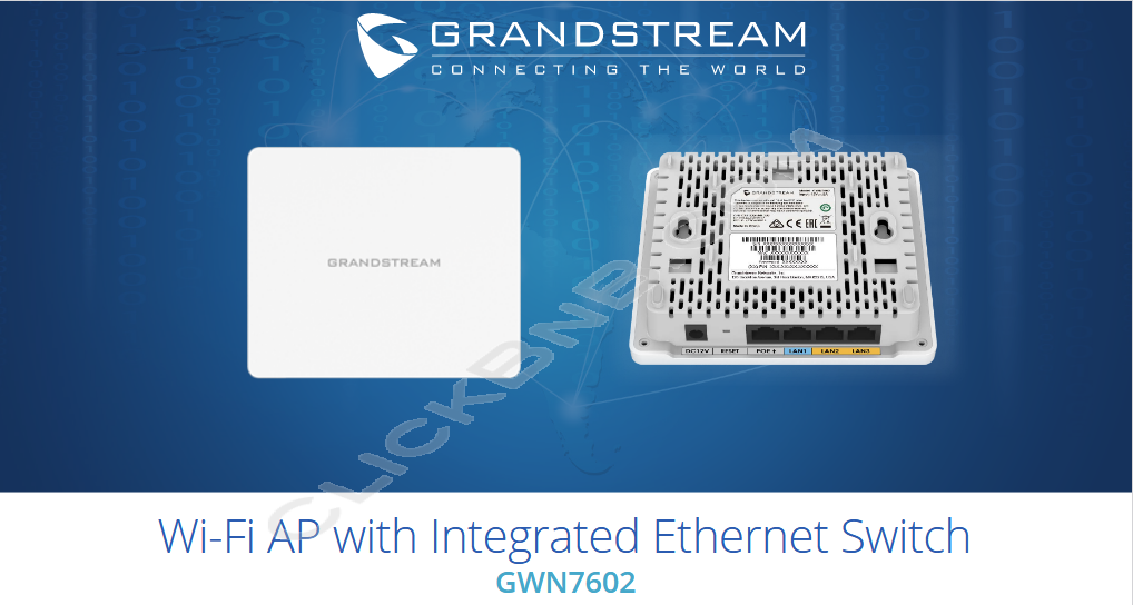 Grandstream GWN7602 - WiFi Access Point with Integrated Ethernet Switch