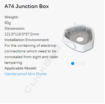 Milesight A74 Junction Box