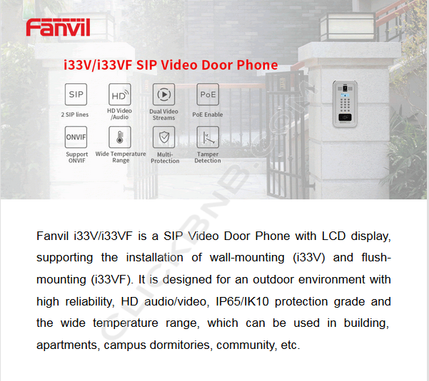 Fanvil i33V SIP Video Door Phone