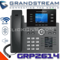 Grandstream GRP2614 - 4 Line Carrier Grade - WiFI IP Phone [PoE & Gigabit]