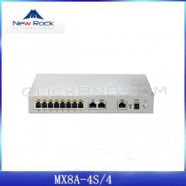 New Rock - MX8G-4S/4 - 4FXS + 4FXO Analog VoIP Gateway