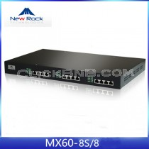 New Rock - MX60-8S/8 [8FXS + 8FXO Analog VoIP Gateway]
